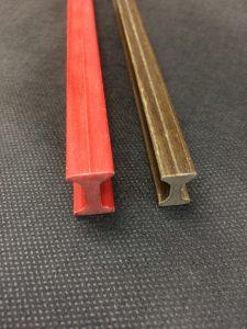 Perfil I en fibra de vidrio