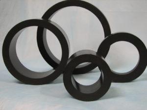 Buchas e anéis em PTFE carbono