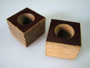 Porcas quadradas em celeron