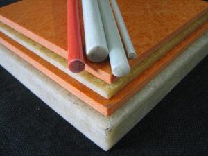 Chapas e tarugos em fibra de vidro