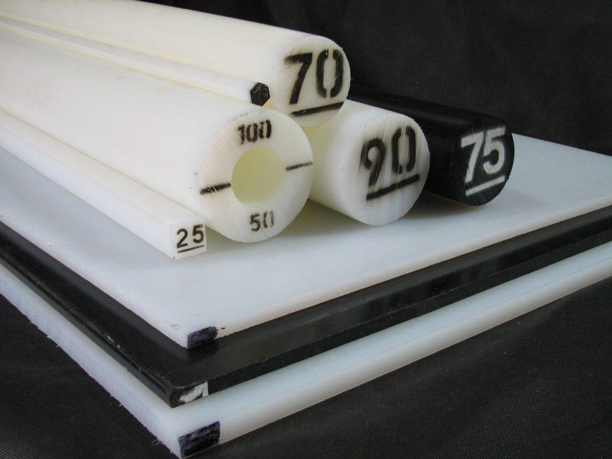 Tubos, barras y planchas en nylon 6
