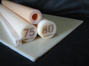 Chapas, tarugos e tubos em technyl