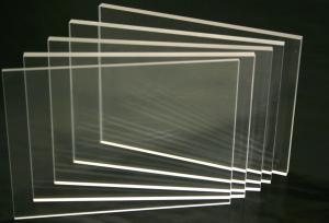Planchas en acrílico transparente