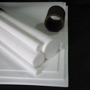 Planchas, barras y tubos en PTFE