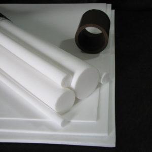 Chapas, tarugos e tubos em PTFE